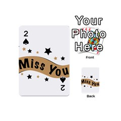Lettering Miss You Banner Playing Cards 54 (mini)
