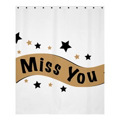 Lettering Miss You Banner Shower Curtain 60  X 72  (medium)