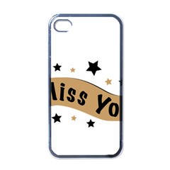 Lettering Miss You Banner Apple Iphone 4 Case (black)