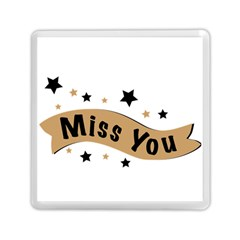 Lettering Miss You Banner Memory Card Reader (square)