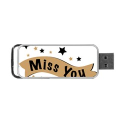 Lettering Miss You Banner Portable Usb Flash (one Side)