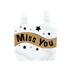 Lettering Miss You Banner Full Print Recycle Bags (s)