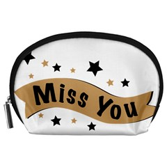 Lettering Miss You Banner Accessory Pouches (large)
