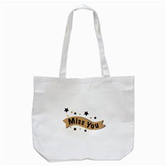 Lettering Miss You Banner Tote Bag (white)