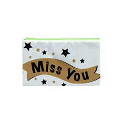 Lettering Miss You Banner Cosmetic Bag (xs)