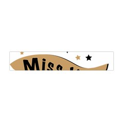 Lettering Miss You Banner Flano Scarf (mini)