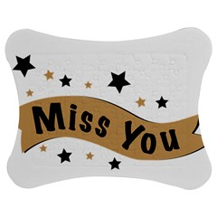 Lettering Miss You Banner Jigsaw Puzzle Photo Stand (bow)
