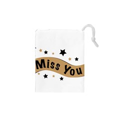 Lettering Miss You Banner Drawstring Pouches (xs)
