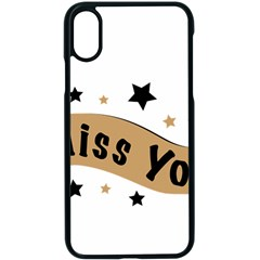 Lettering Miss You Banner Apple Iphone X Seamless Case (black)