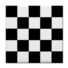Grid Domino Bank And Black Tile Coasters