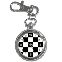 Grid Domino Bank And Black Key Chain Watches