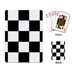 Grid Domino Bank And Black Playing Card