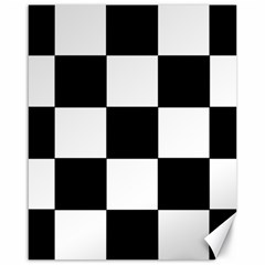 Grid Domino Bank And Black Canvas 16  X 20