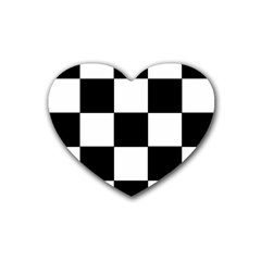 Grid Domino Bank And Black Heart Coaster (4 Pack)