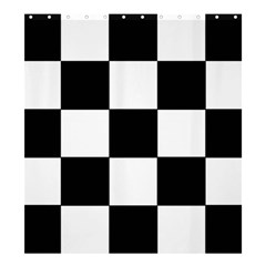 Grid Domino Bank And Black Shower Curtain 66  X 72  (large)