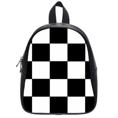 Grid Domino Bank And Black School Bag (small)