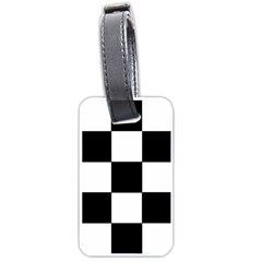Grid Domino Bank And Black Luggage Tags (two Sides)