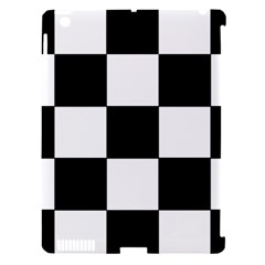Grid Domino Bank And Black Apple Ipad 3/4 Hardshell Case (compatible With Smart Cover)