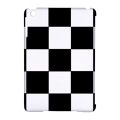 Grid Domino Bank And Black Apple Ipad Mini Hardshell Case (compatible With Smart Cover)