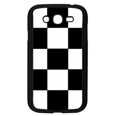 Grid Domino Bank And Black Samsung Galaxy Grand Duos I9082 Case (black)