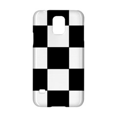 Grid Domino Bank And Black Samsung Galaxy S5 Hardshell Case