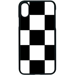 Grid Domino Bank And Black Apple Iphone X Seamless Case (black)