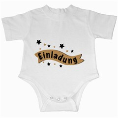 Einladung Lettering Invitation Banner Infant Creepers