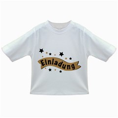 Einladung Lettering Invitation Banner Infant/toddler T Shirts