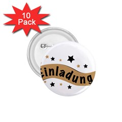 Einladung Lettering Invitation Banner 1 75  Buttons (10 Pack)