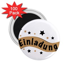 Einladung Lettering Invitation Banner 2 25  Magnets (100 Pack)