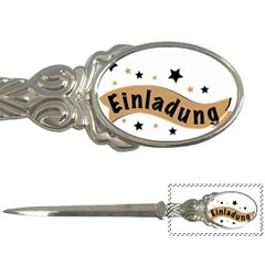 Einladung Lettering Invitation Banner Letter Openers
