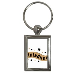 Einladung Lettering Invitation Banner Key Chains (rectangle)