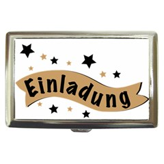 Einladung Lettering Invitation Banner Cigarette Money Cases
