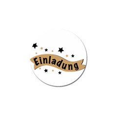 Einladung Lettering Invitation Banner Golf Ball Marker (4 Pack)