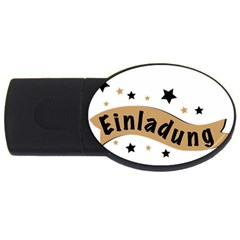 Einladung Lettering Invitation Banner Usb Flash Drive Oval (2 Gb)