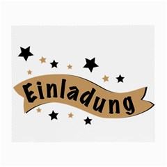 Einladung Lettering Invitation Banner Small Glasses Cloth