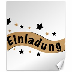 Einladung Lettering Invitation Banner Canvas 8  X 10