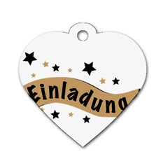 Einladung Lettering Invitation Banner Dog Tag Heart (one Side)