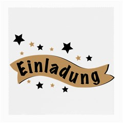 Einladung Lettering Invitation Banner Medium Glasses Cloth (2 Side)