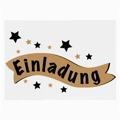 Einladung Lettering Invitation Banner Large Glasses Cloth