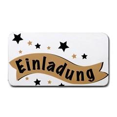 Einladung Lettering Invitation Banner Medium Bar Mats