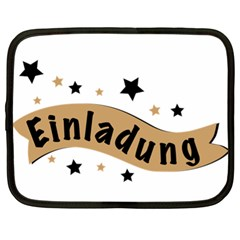 Einladung Lettering Invitation Banner Netbook Case (xl)