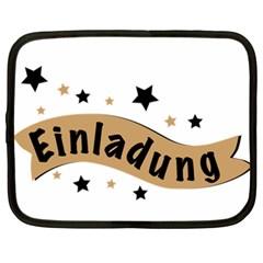 Einladung Lettering Invitation Banner Netbook Case (xxl)
