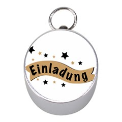 Einladung Lettering Invitation Banner Mini Silver Compasses