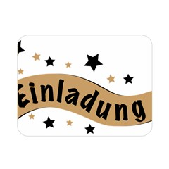 Einladung Lettering Invitation Banner Double Sided Flano Blanket (mini)