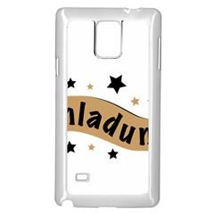 Einladung Lettering Invitation Banner Samsung Galaxy Note 4 Case (white)