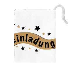 Einladung Lettering Invitation Banner Drawstring Pouches (extra Large)