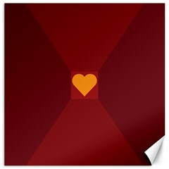 Heart Red Yellow Love Card Design Canvas 16  X 16