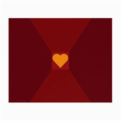 Heart Red Yellow Love Card Design Small Glasses Cloth (2 Side)