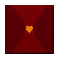 Heart Red Yellow Love Card Design Face Towel